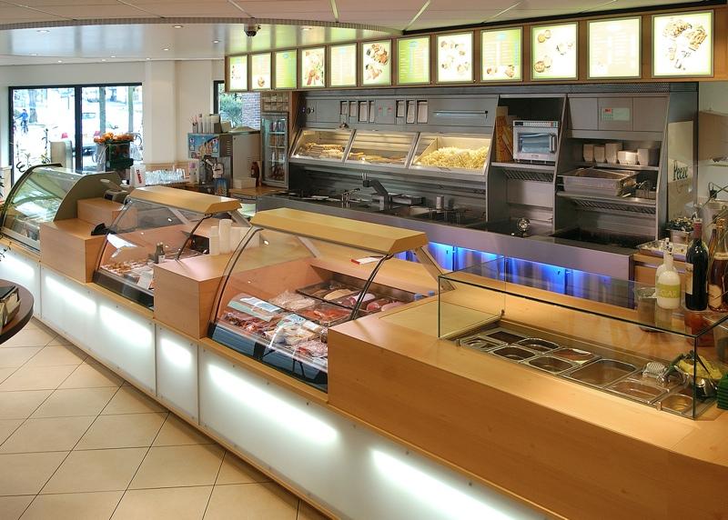 Cafetaria design counter