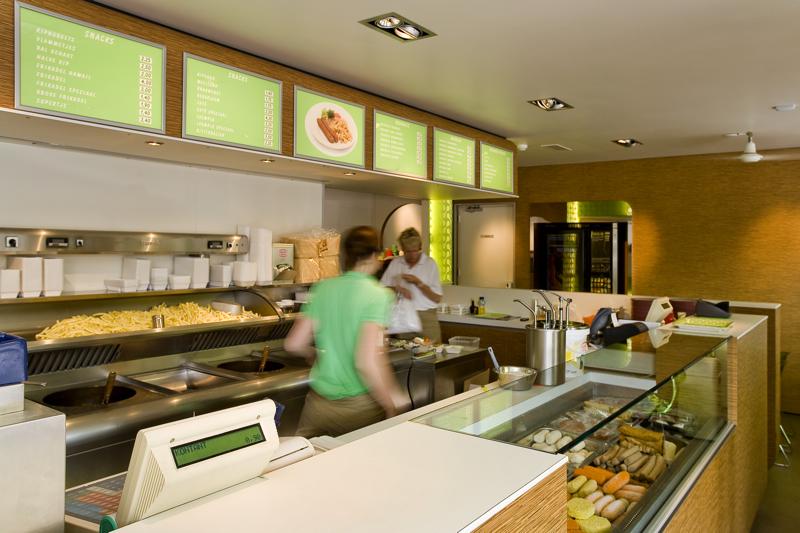 Cafetaria ontwerp in retro stijl | Herman de Jong Architectuur ...
