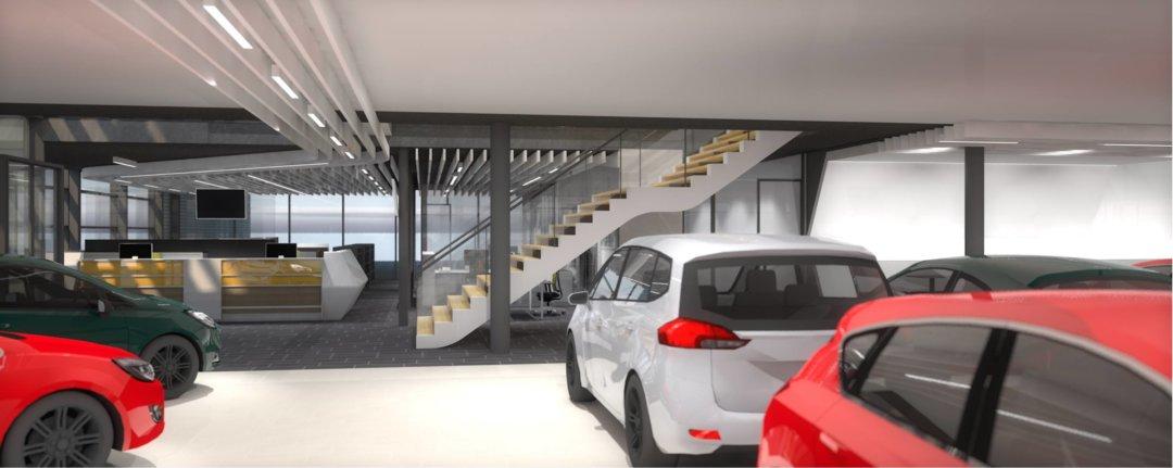 Interieur Opel dealer 3D render
