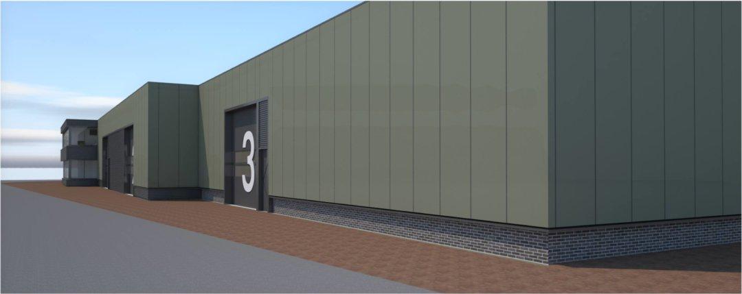 Renovatie in- en exterieur bedrijfspand Intersport Twinsport zijaanzicht