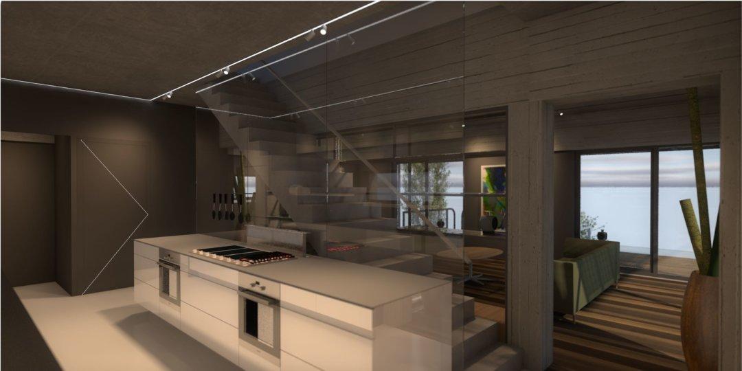 Keuken in perstectief
