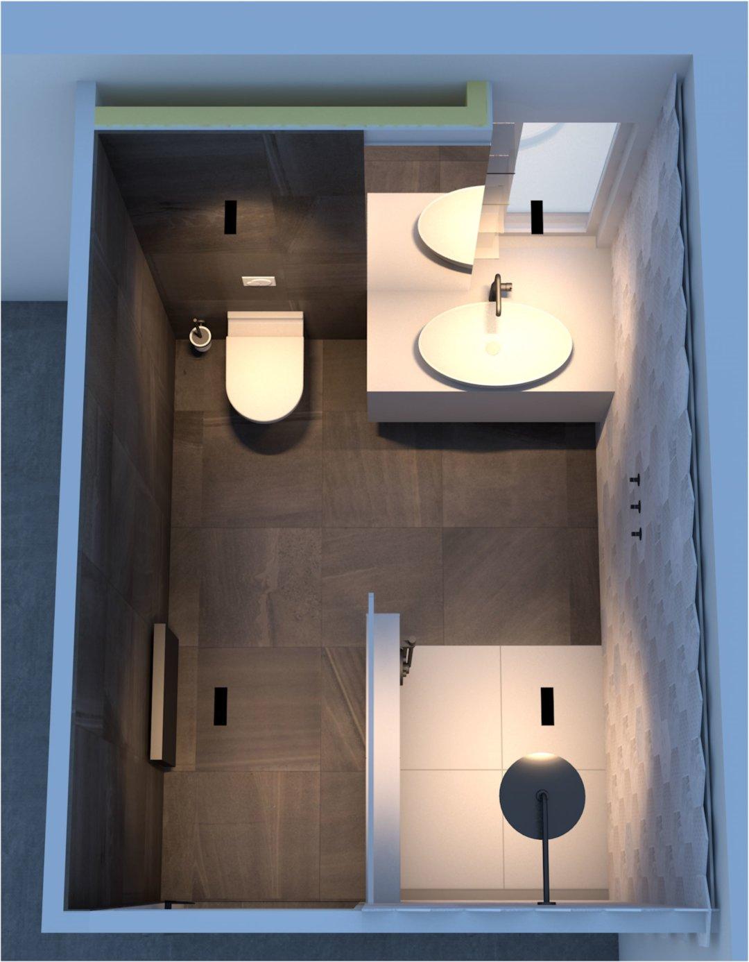 Ontwerp voor een badkamer te Woerden